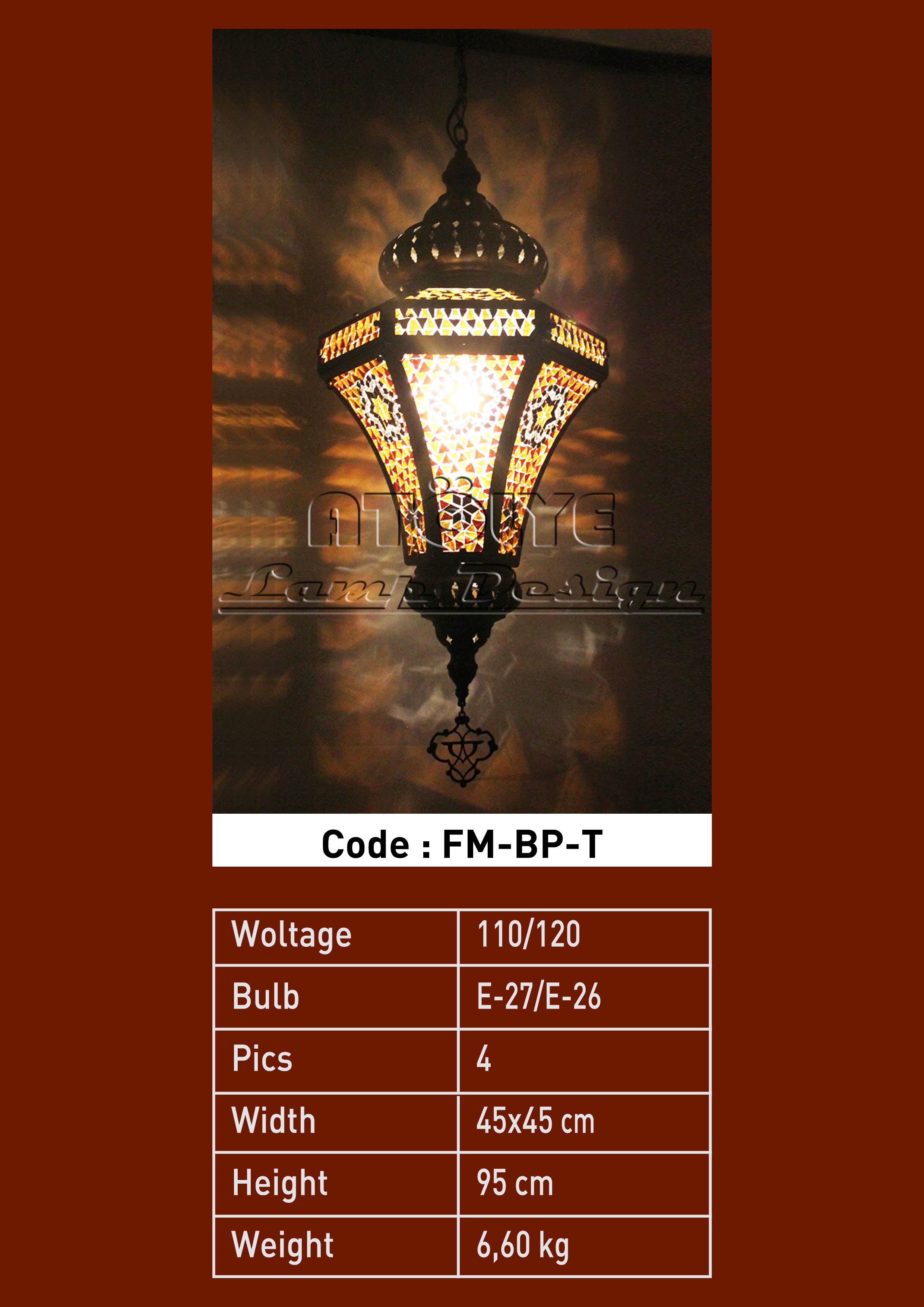 mozaik lamba fener prizma büyük