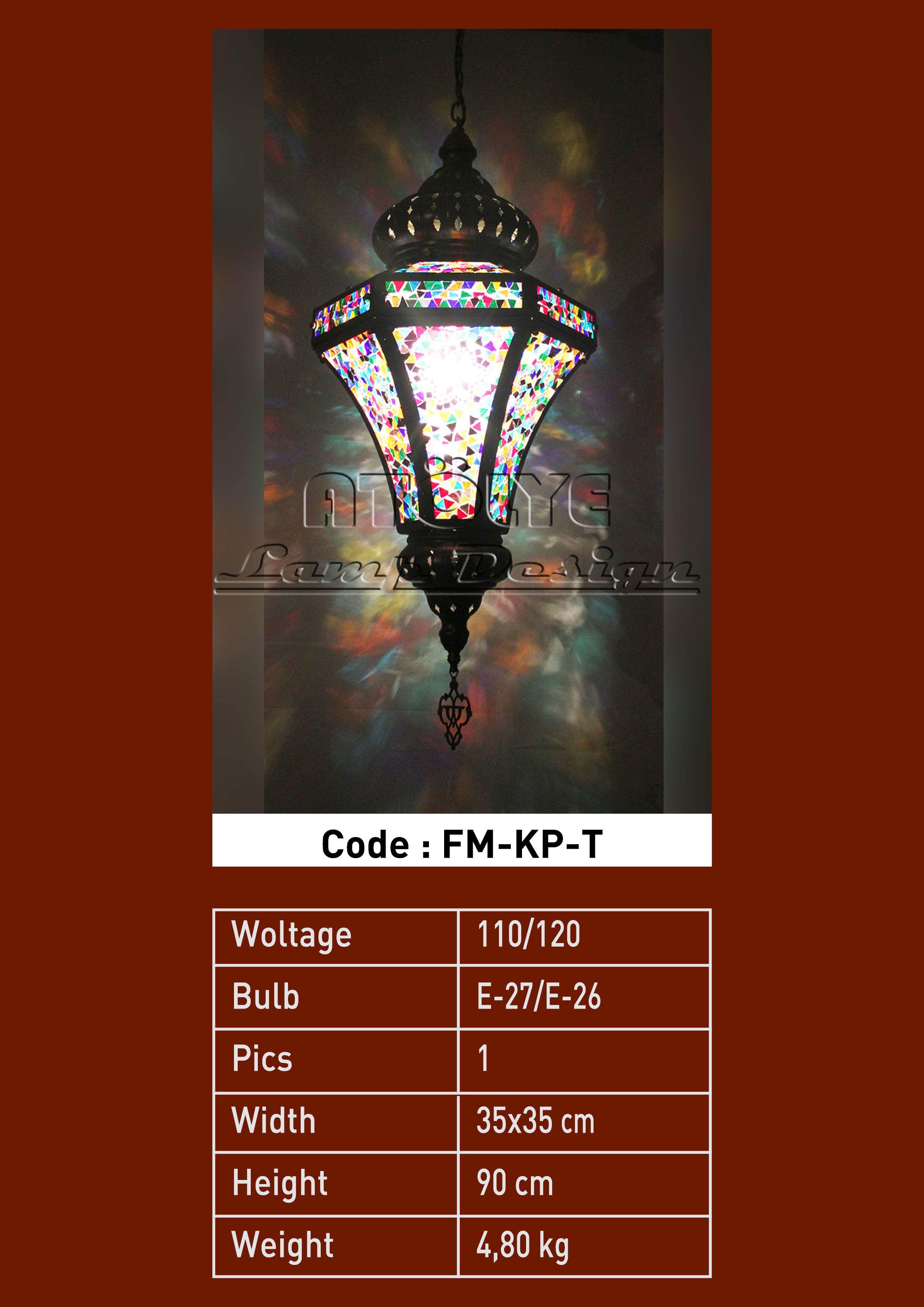 mozaik lamba fener prizma kücük