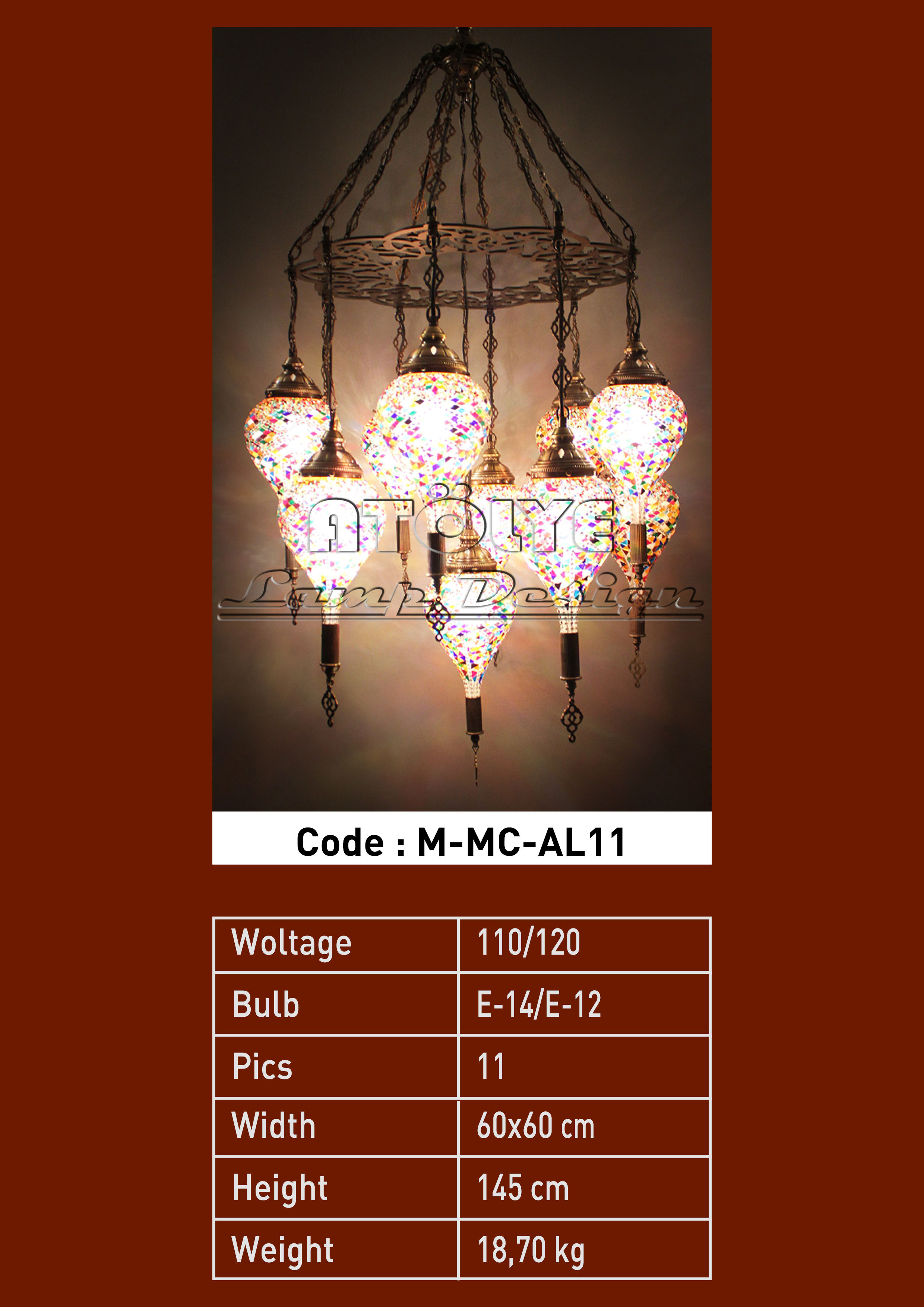 turkish mosaic light 11 glass drop chendelier