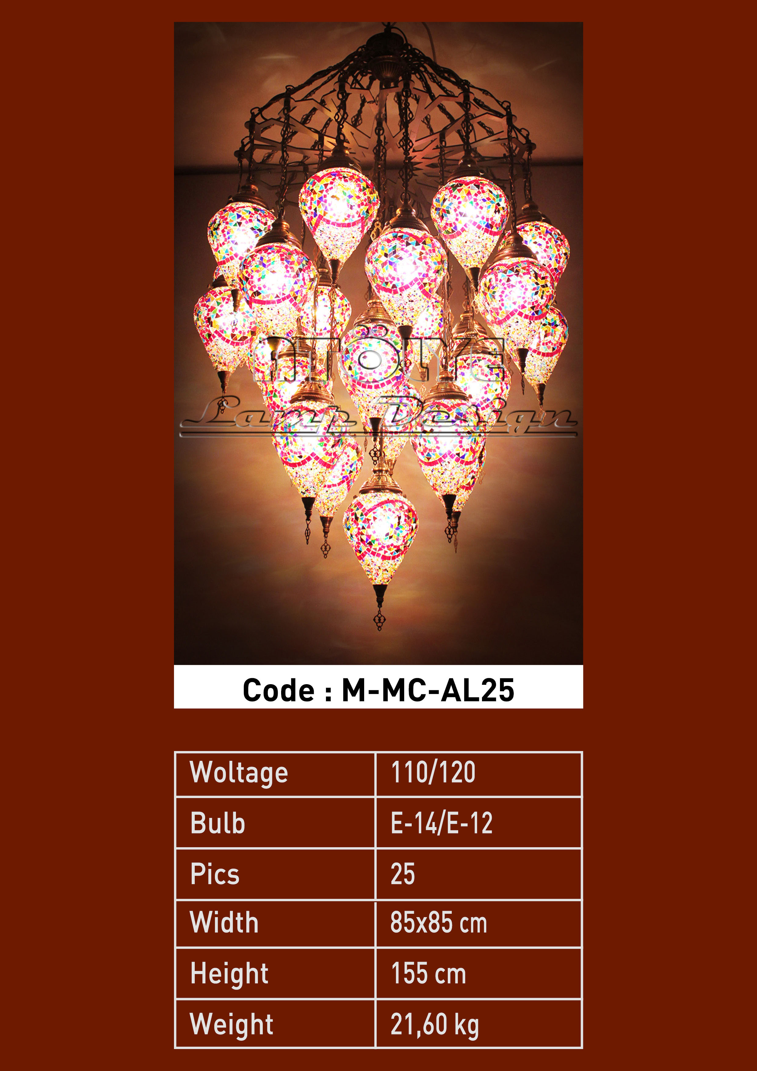 turkish mosaic light 25 glass drop chendelier