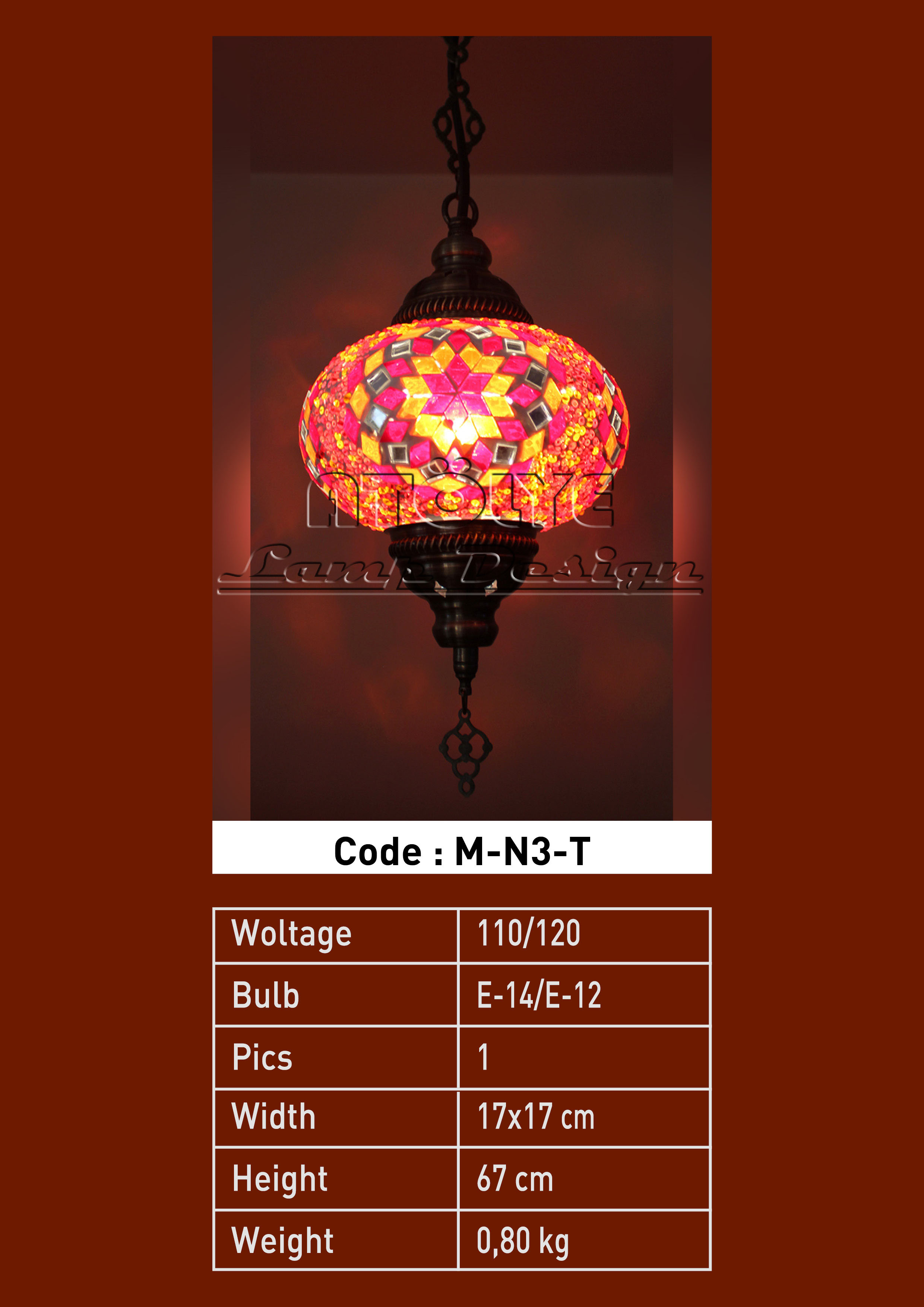 turkish mosaic lights pendant no3 ball