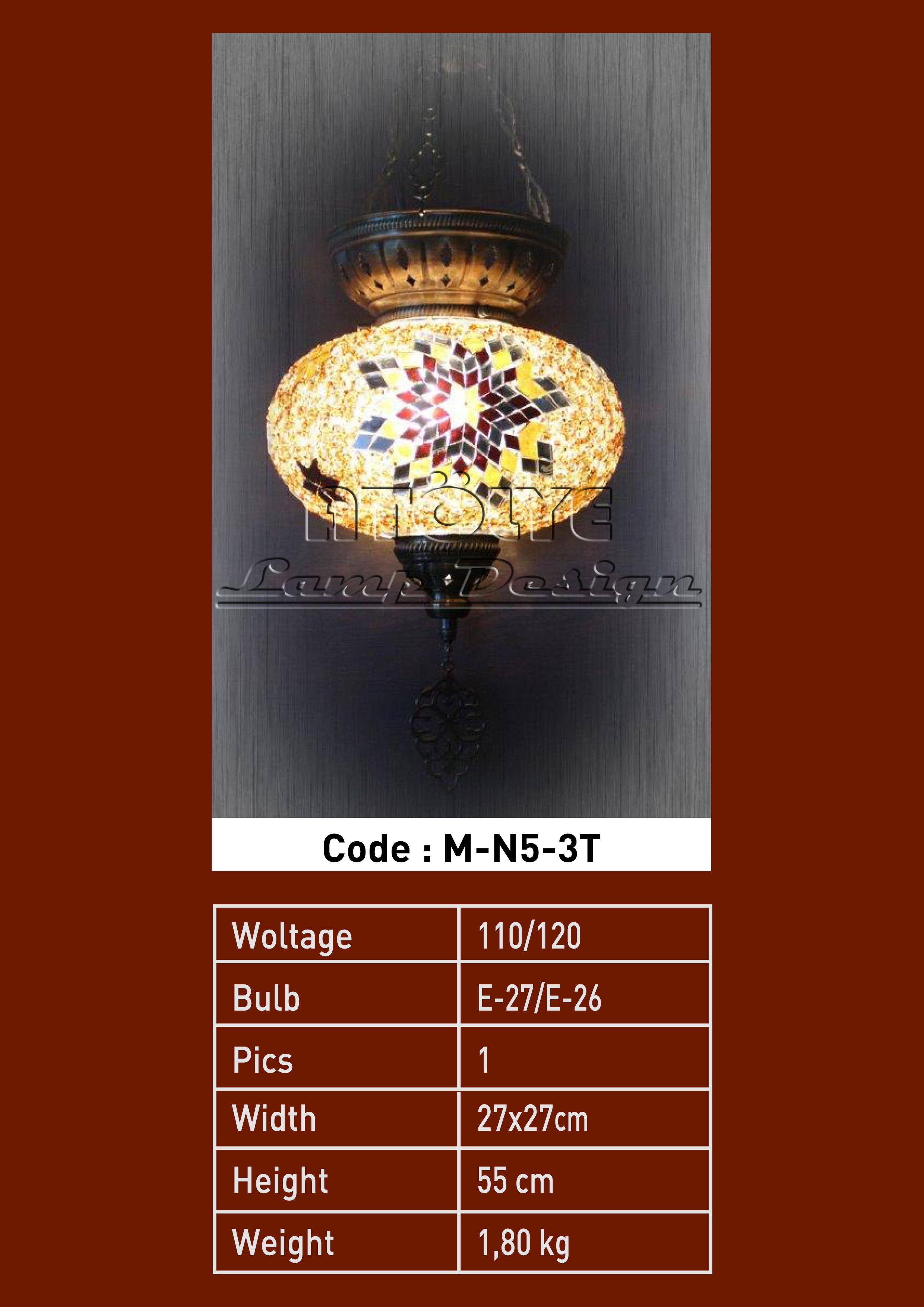 mozaik lamba tekli no5 3zincir