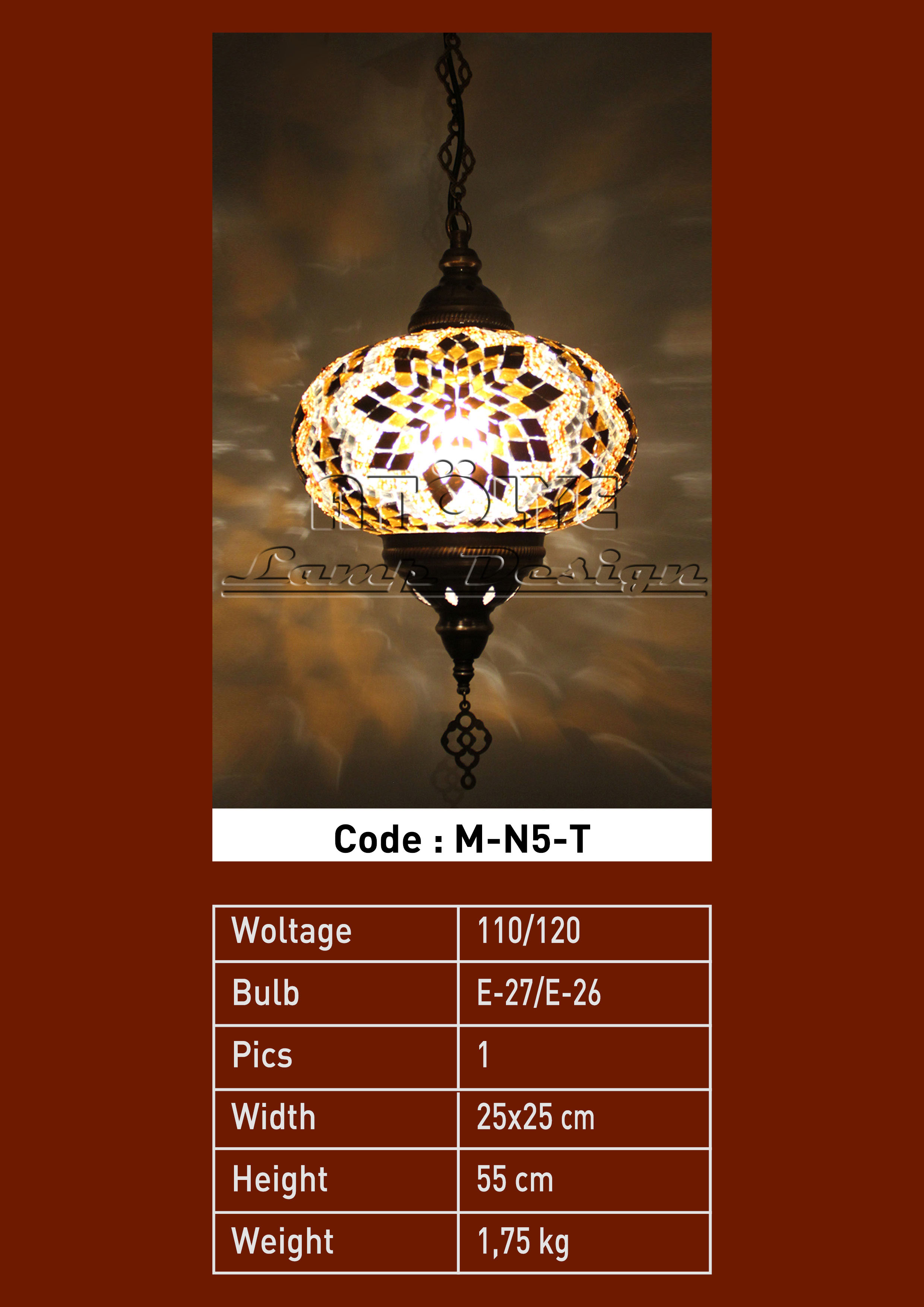 turkish mosaic lights pendant no5 ball