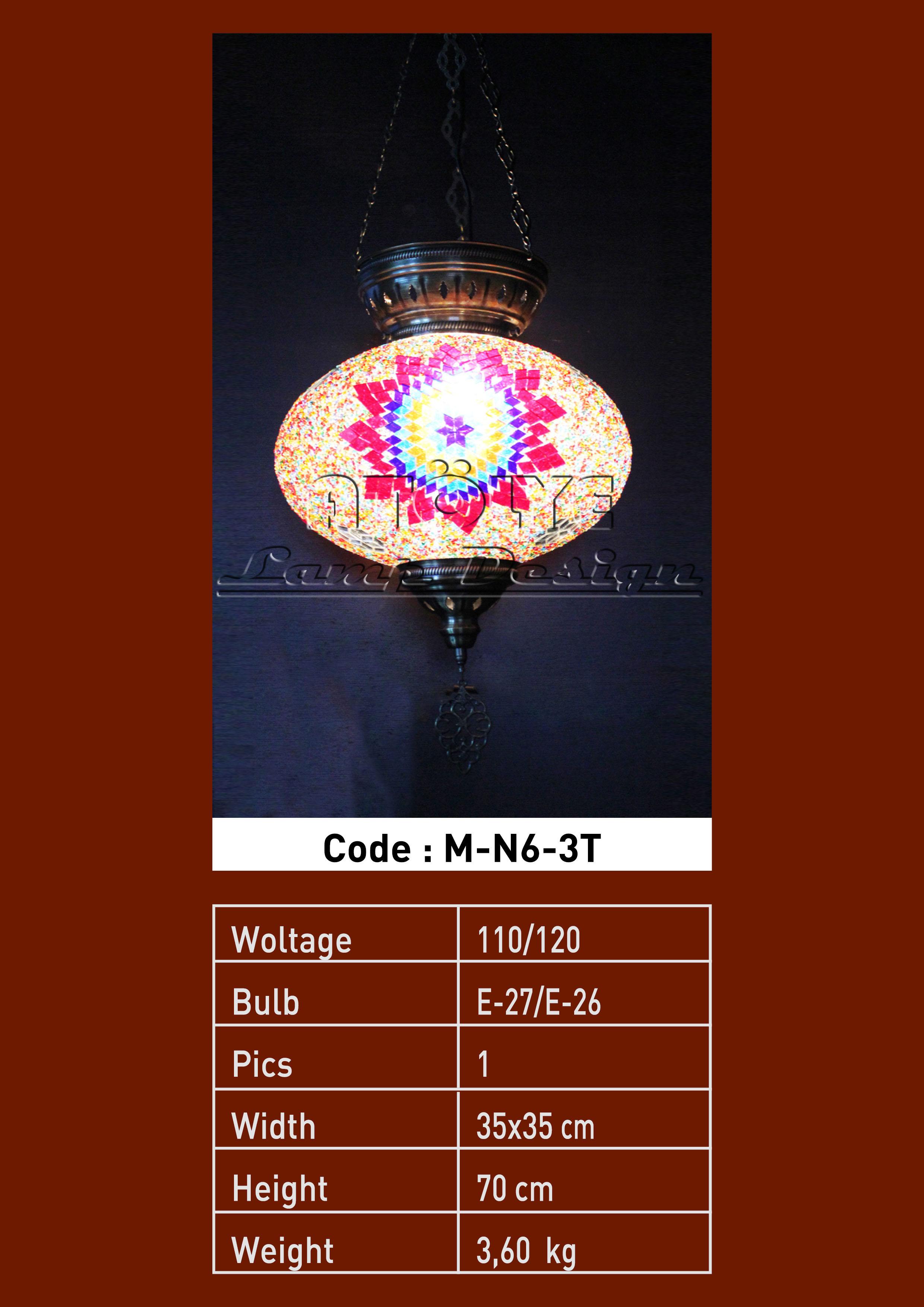mozaik lamba tekli no6 3zincir