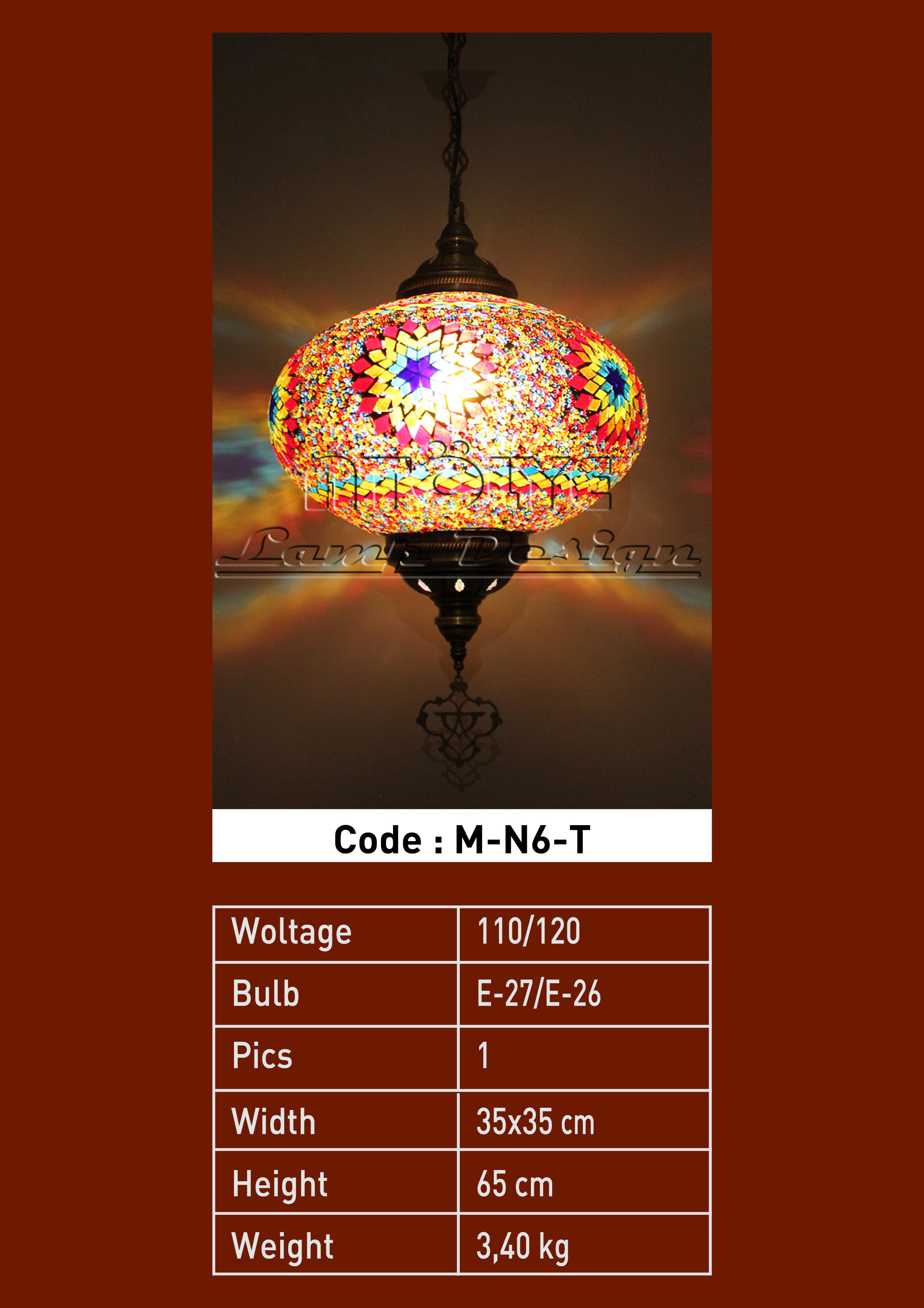 turkish mosaic lights pendant no6 ball