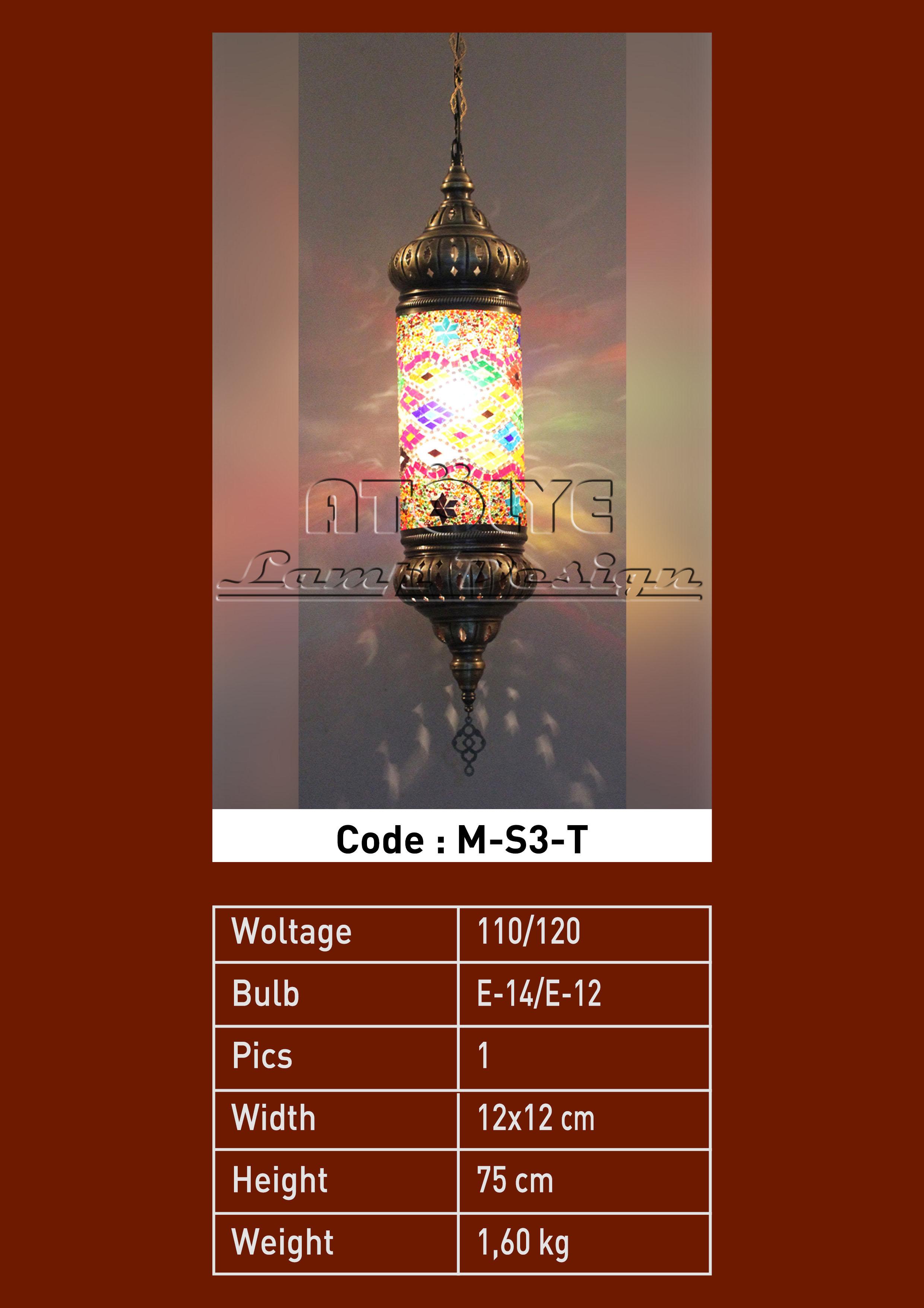 mozaik lamba tekli silindir no3