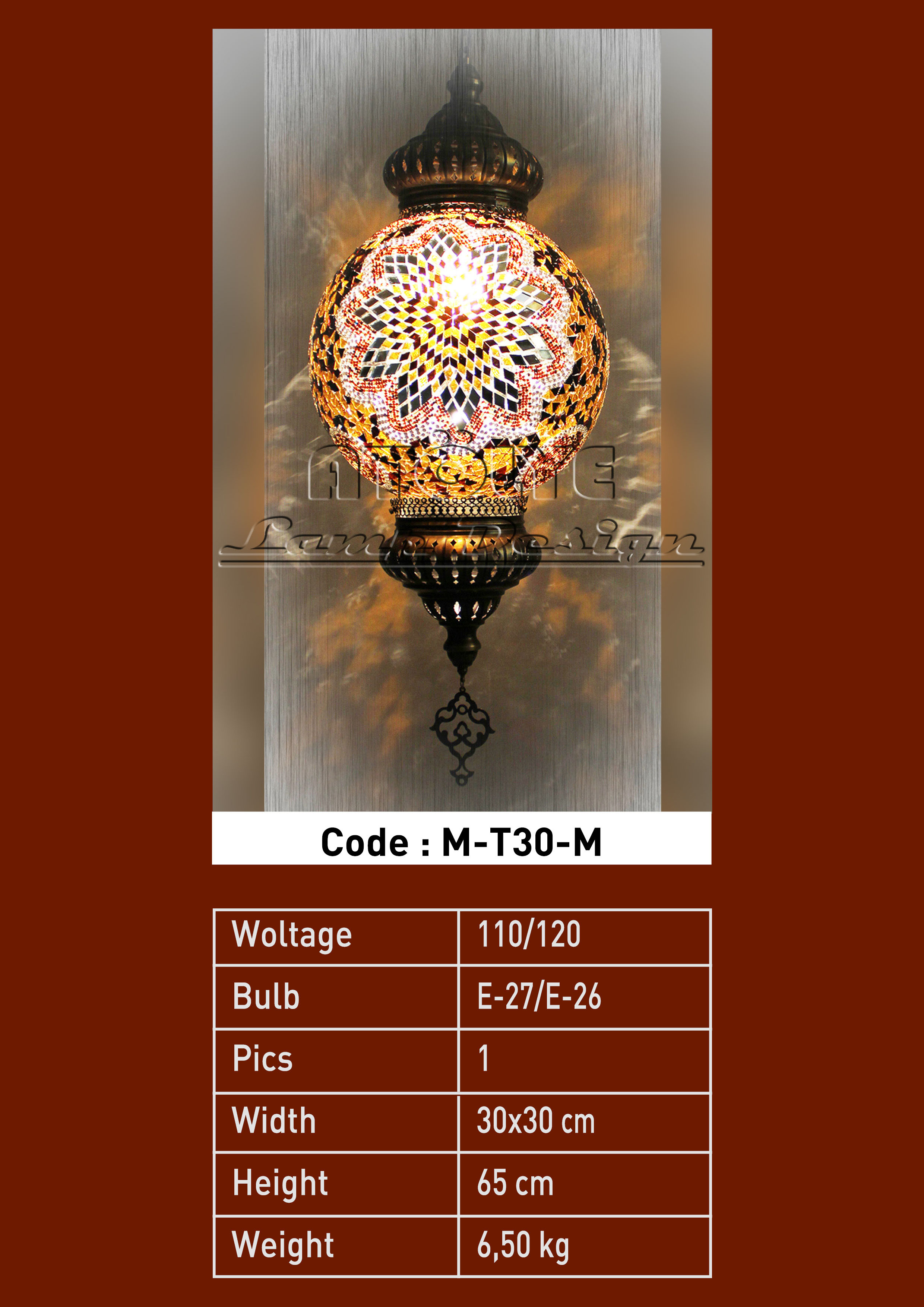 turkish mosaic lights pendant 30cm ball