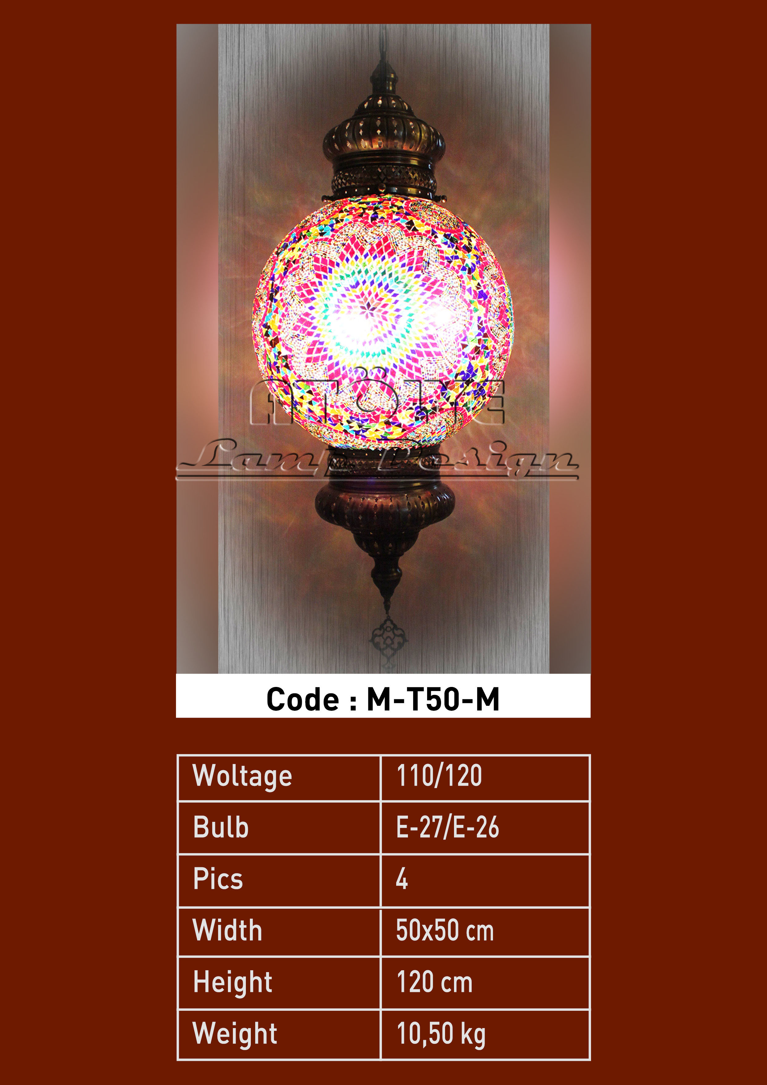 turkish mosaic lights pendant 50cm ball