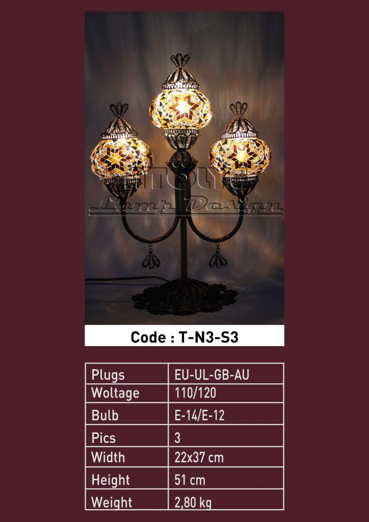 mozaik telkari şamdan masa lambası